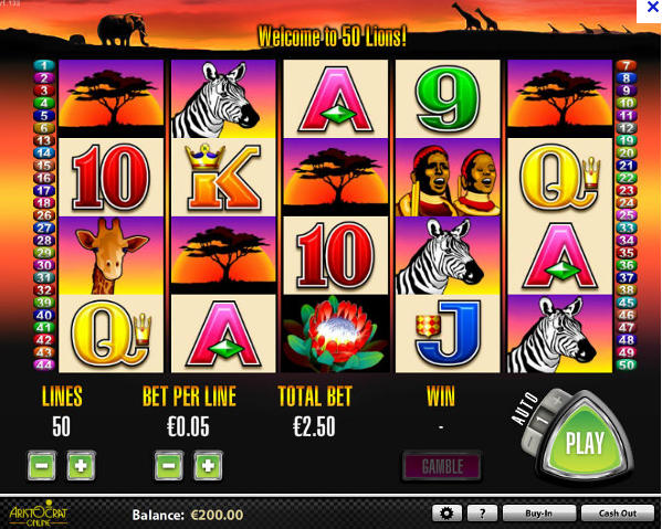 100 lions slot machine applications corporation