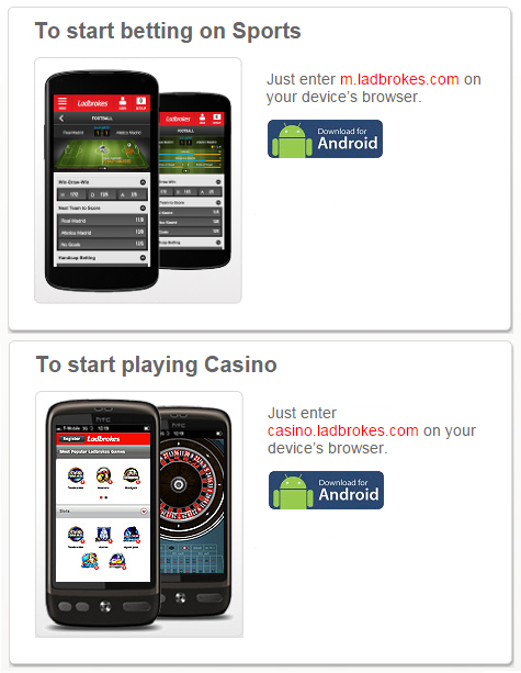 Ladbrokes android bis