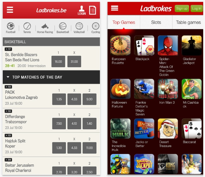 application mobile Ladbrokes
