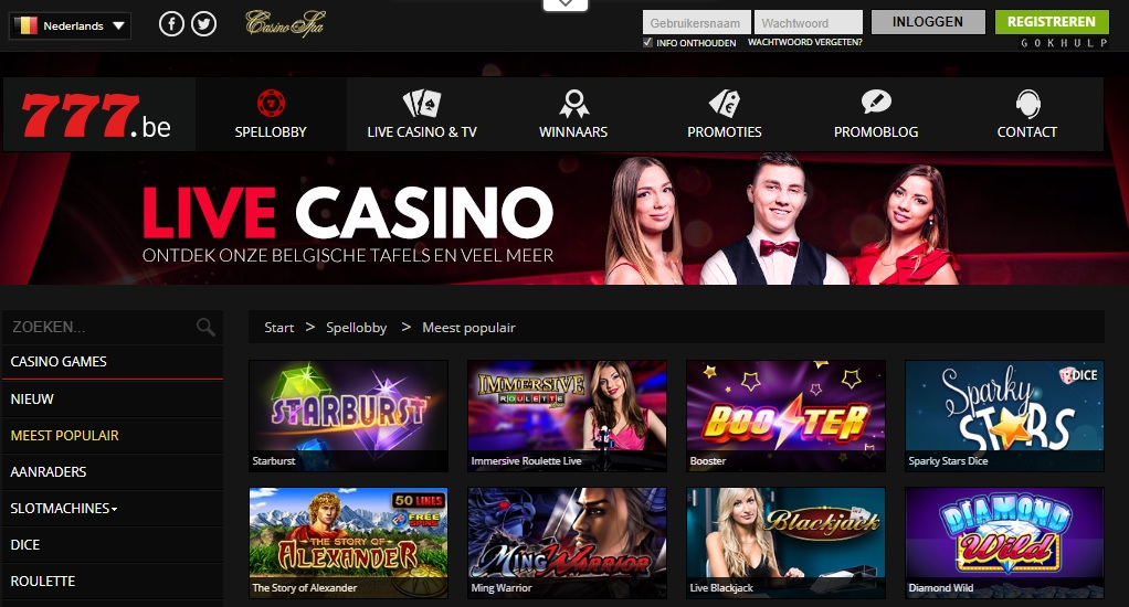 oordeel over de site casino777