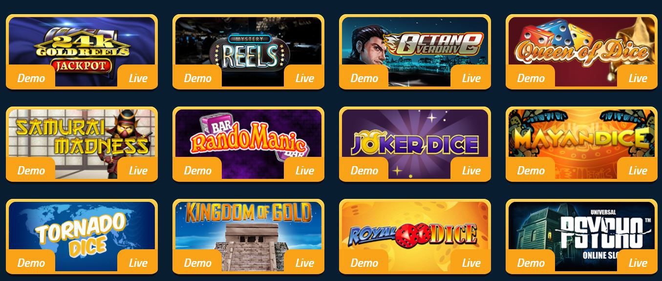 Dice Slots sur Palladium Games